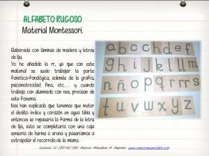 alfabeto rugoso